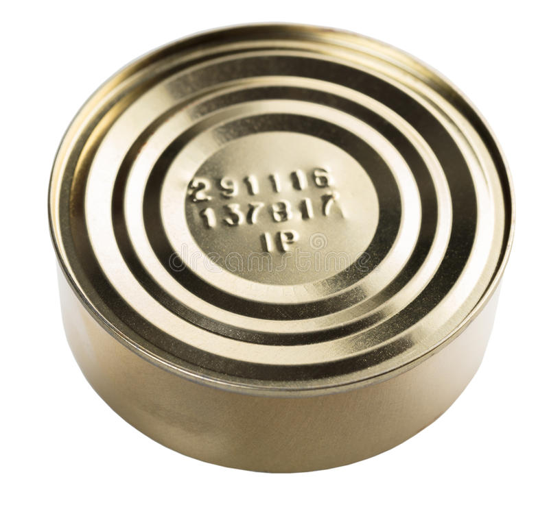 Metal tin can stock image