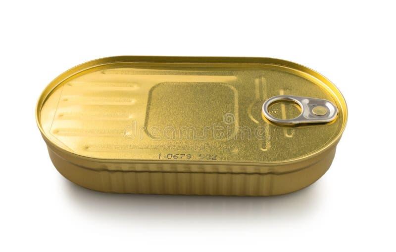 Metal tin can stock photo