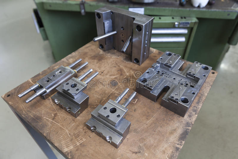 Metal tool for molding. Rubber products stock photos