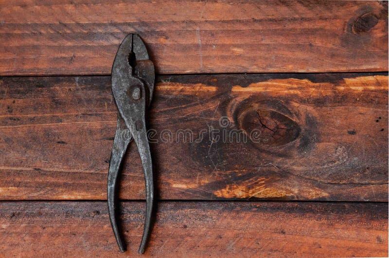 Metal tool. S for plumbing repairs, metal saws, pliers, metal shears, retro tools stock photo