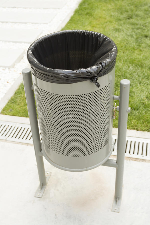 download metal trash can in the park stock images image