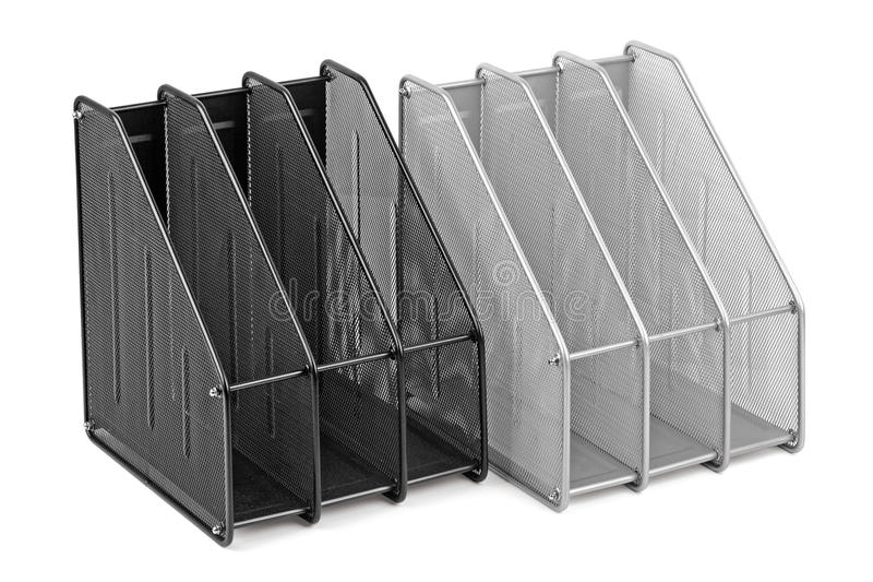 Metal tray for documents royalty free stock photo