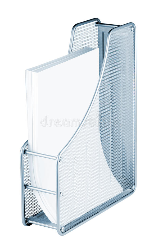 Metal tray for papers royalty free stock photos