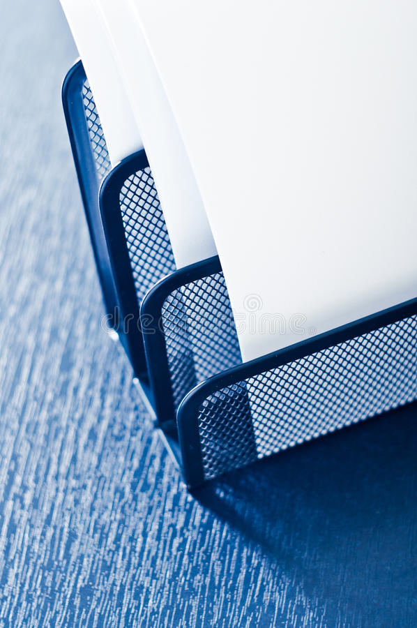 Metal tray on the table stock images