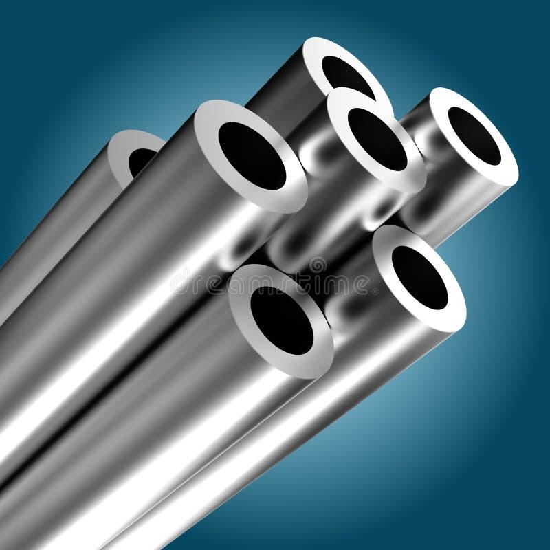 metal tubka ilustracji