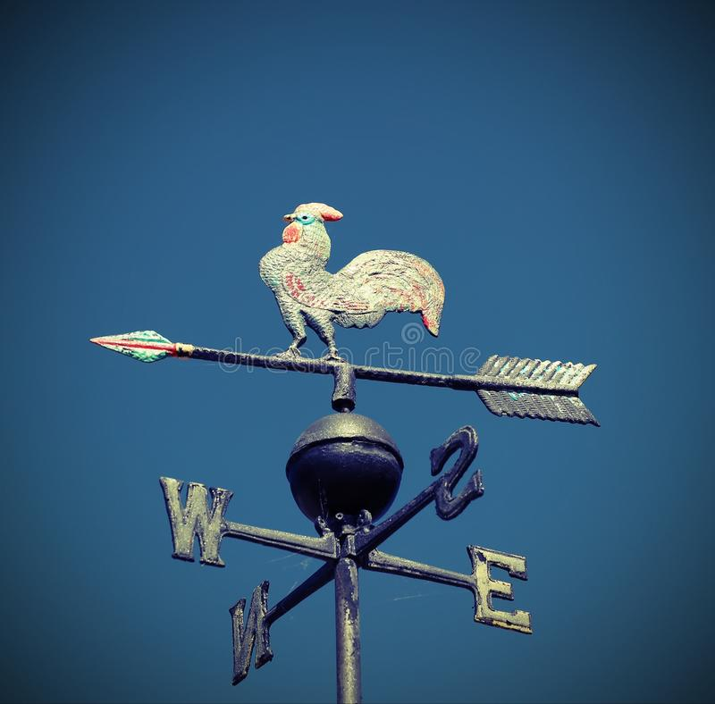 Vane cardinal points that indicates the wind direction royalty free stock photos