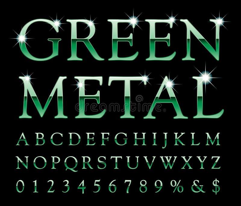 Metal verde ilustración del vector