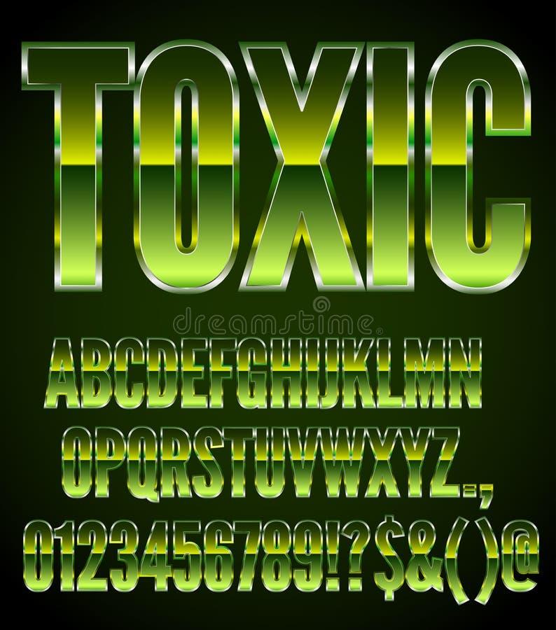 Metal verde tóxico ilustração stock