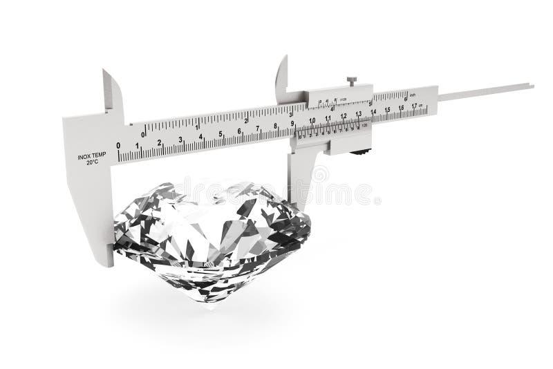Metal Vernier Caliper con el diamante fotos de archivo libres de regalías