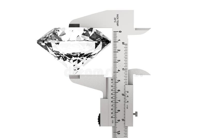 Metal Vernier Caliper con el diamante foto de archivo libre de regalías