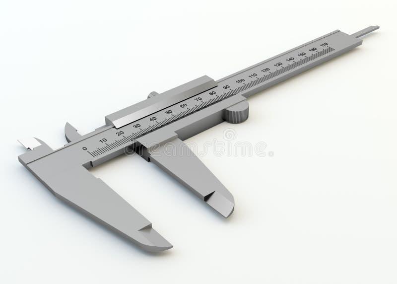 Metal vernier caliper isolated royalty free illustration