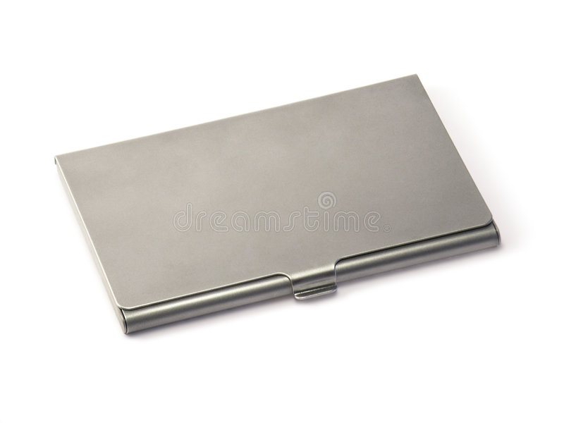 Download Metal Visiting-Card Box stock image. Image of mail, name - 3058829