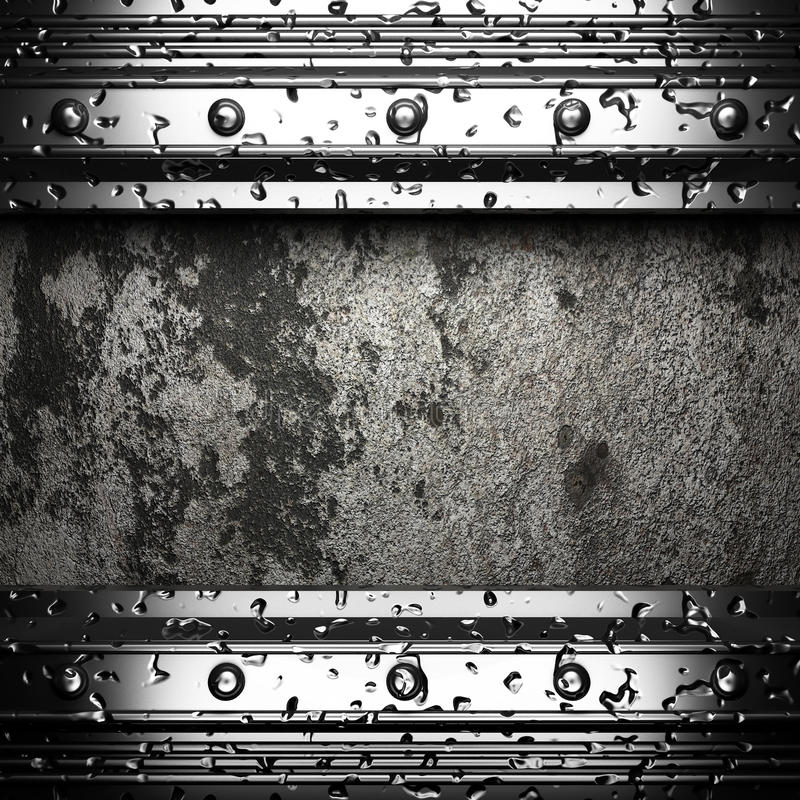 Metal On The Wall Stock Image