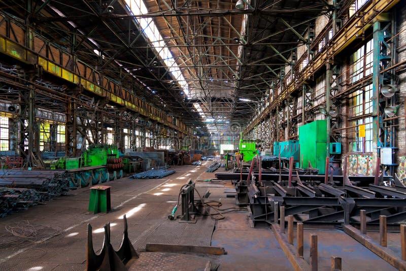 Metal warehouse stock photos