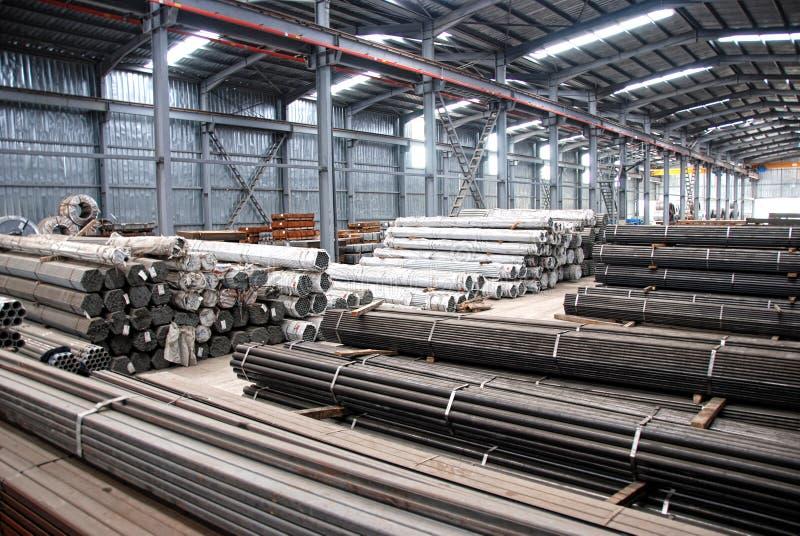 Metal warehouse royalty free stock photos