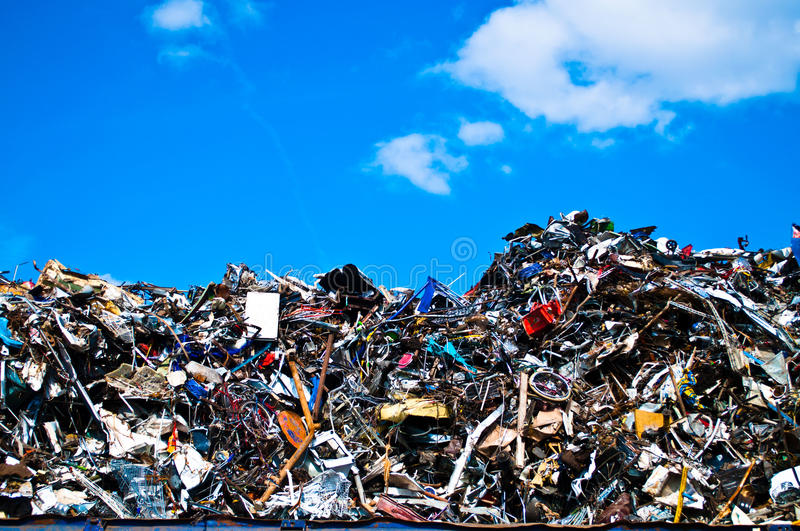Metal waste stock photography