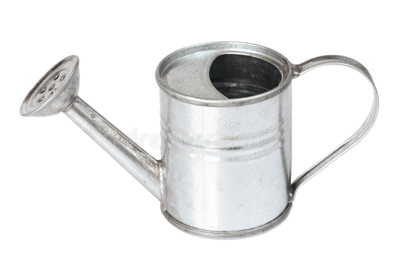 Metal watering can royalty free stock images