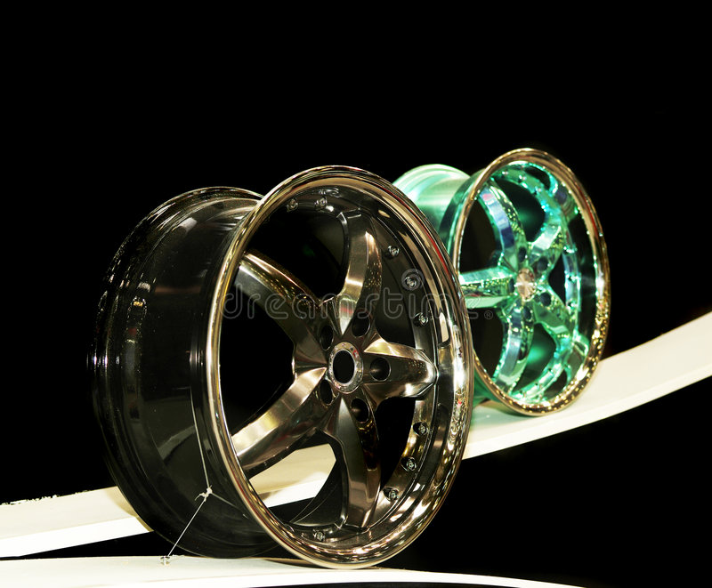 Metal Wheel Disks Royalty Free Stock Images