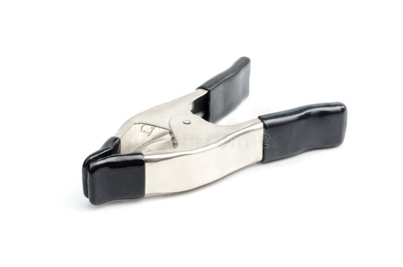 Metal wiosny kahat z czarnym klingerytem na rękojeściach i poradzie na białym tle fotografia stock