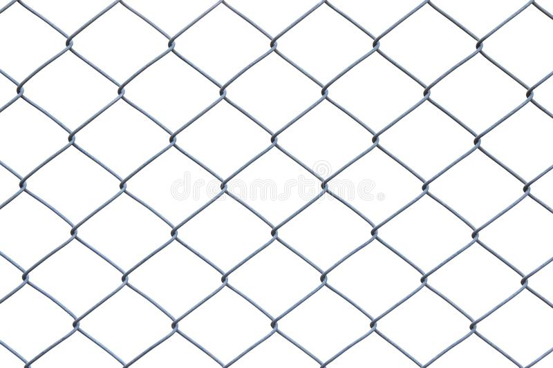 Metal wire fence or cage on white background royalty free stock photos