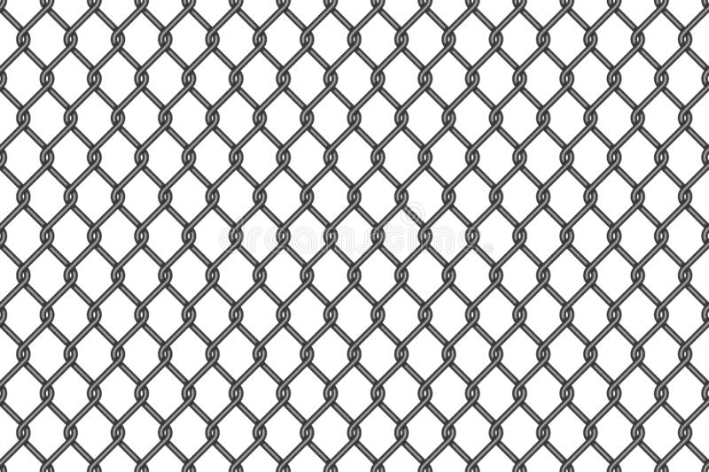 Metal wire mesh seamless pattern vector illustration