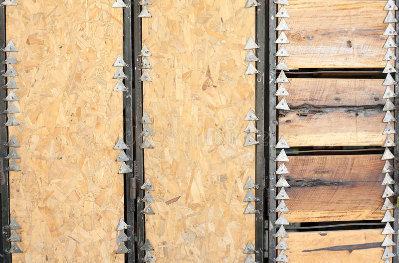 Metal and wood background stock images