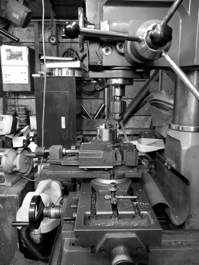 Download Metal Workshop: Drill And Lathe - V Stock Image - Image of steel, metal: 22553955