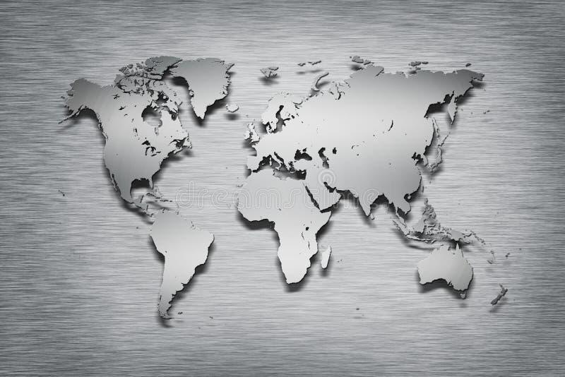 Download Metal World Map on metal stock illustration. Illustration of elements - 26455028