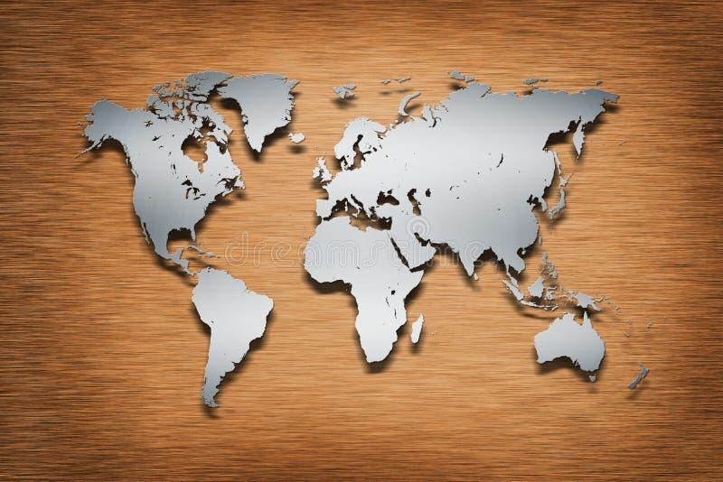Metal world map on wood stock illustration illustration of graphic download metal world map on wood stock illustration illustration of graphic 26455091 gumiabroncs Gallery