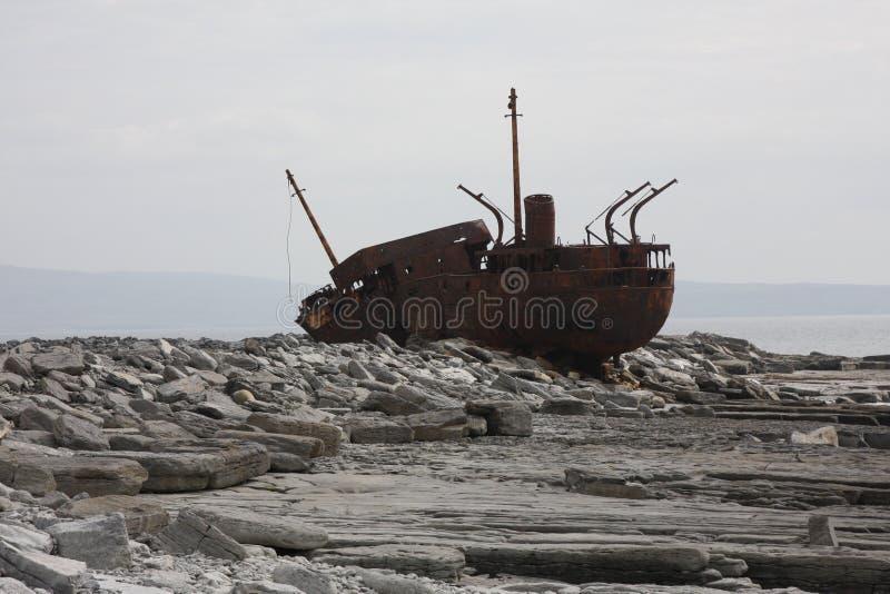Metal Wreck. On the Island of Inishmaan, Ireland stock photography