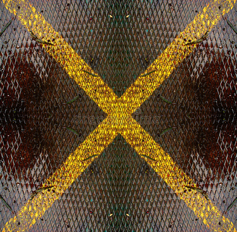 Metal X imagen de archivo