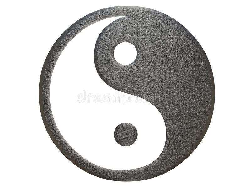 Metal ying yang sign royalty free illustration