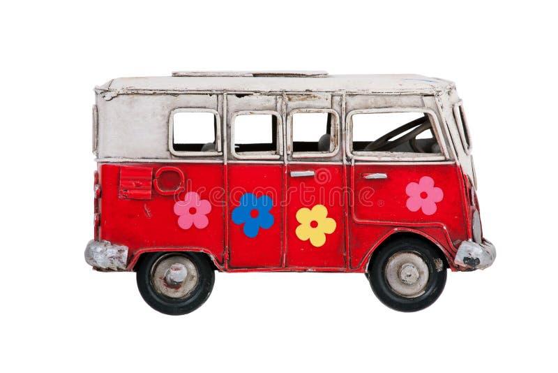 Metal zabawkarski kolorowy autobus obraz stock