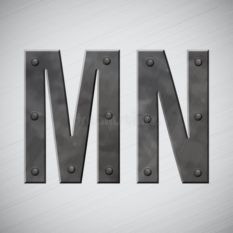 Metal Zeichen stock abbildung