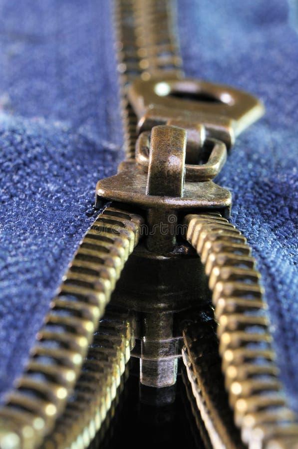 Metal Zipper stock images