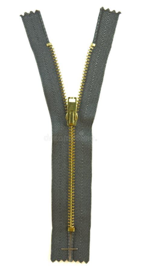 Metal zipper royalty free stock images