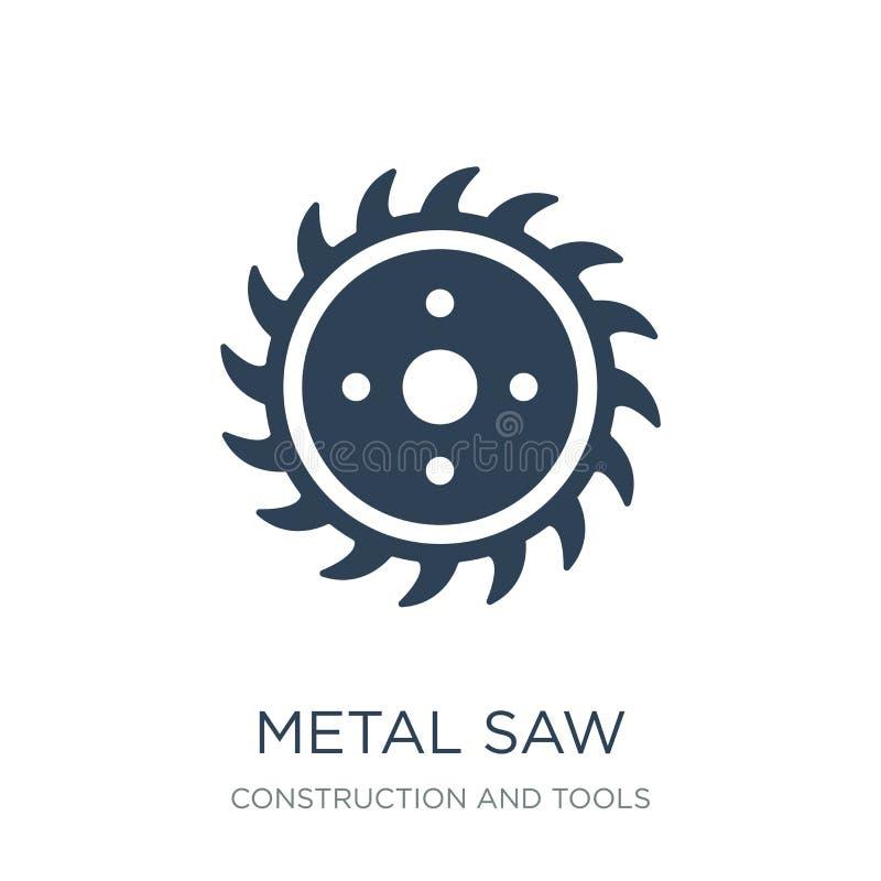 metal zobaczył ikonę w modnym projekcie projektować metal zobaczył ikonę odizolowywającą na białym tle metal zobaczył wektorowego ilustracji