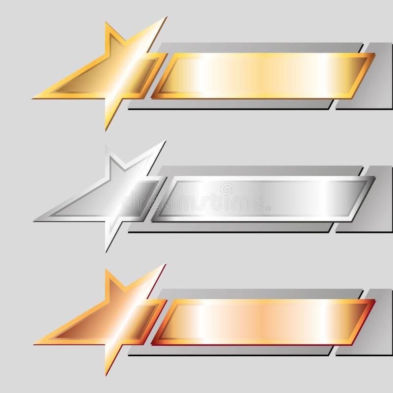 Metalembleme stock abbildung