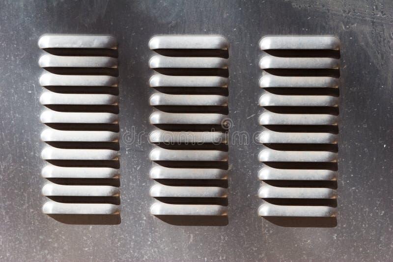 Metalentlüftungsöffnung stockbild