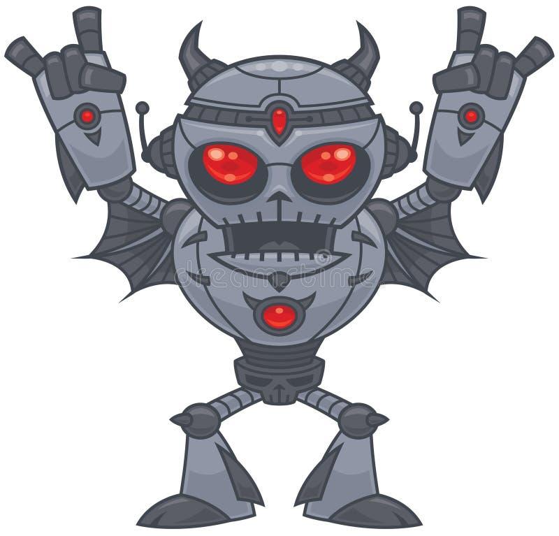 Metalhead - heavy metalrobot vektor illustrationer
