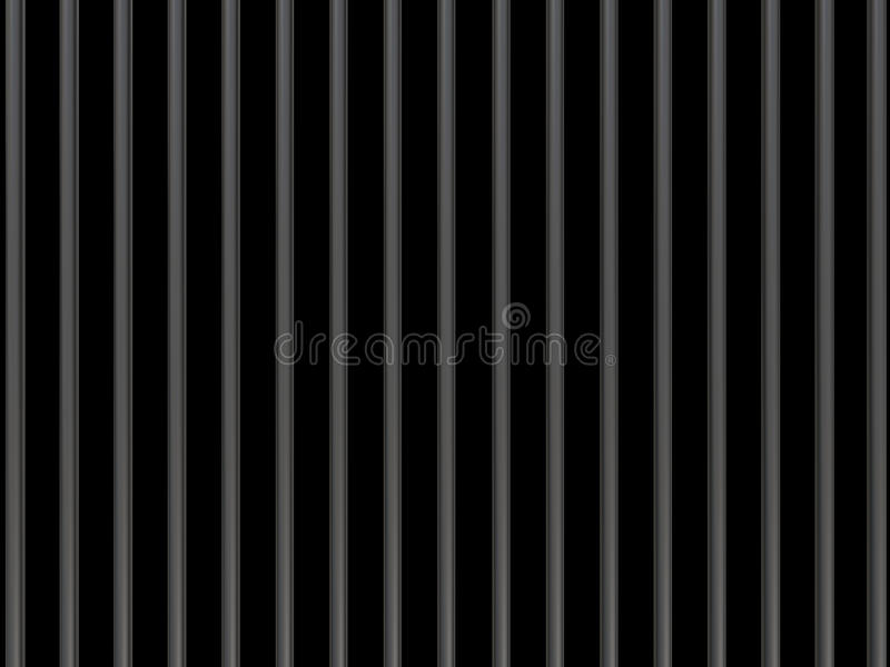 Metali bary na czarnym tle 3d royalty ilustracja