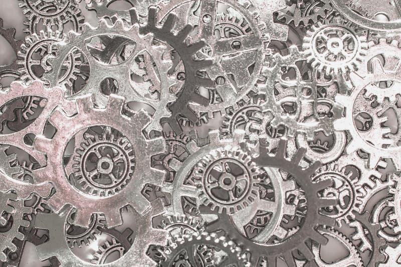Metali cogwheels i przekładni tło zdjęcia royalty free