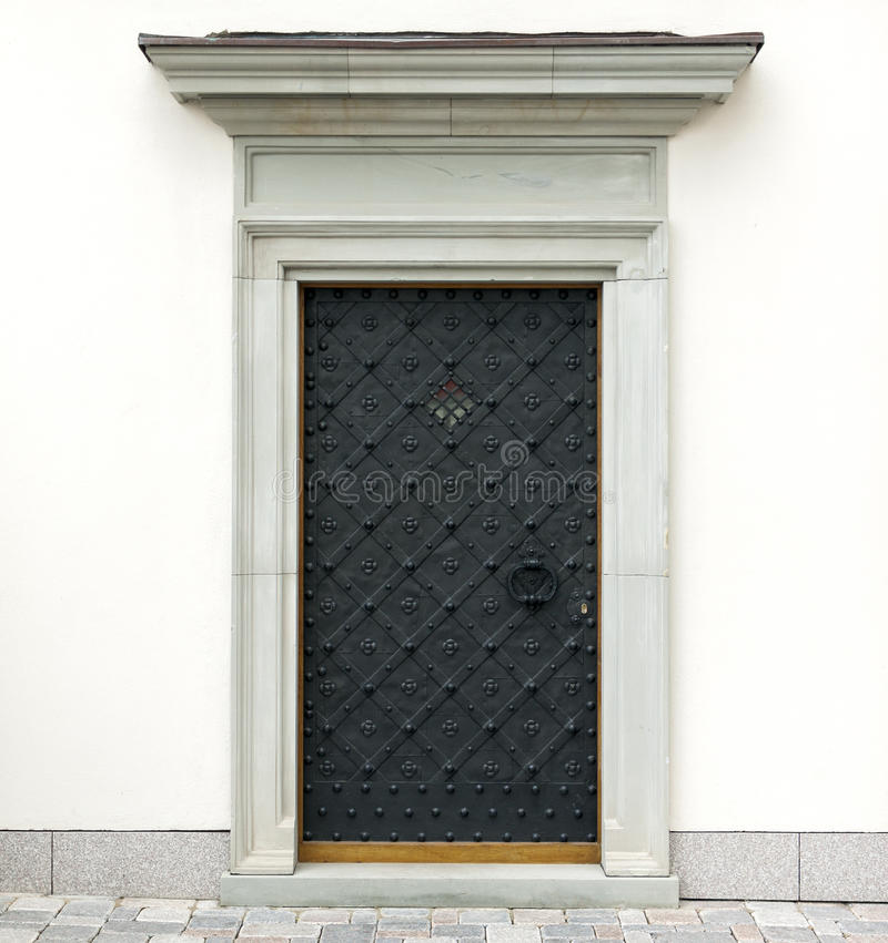 Metali dekoracyjni drzwi zdjęcie stock