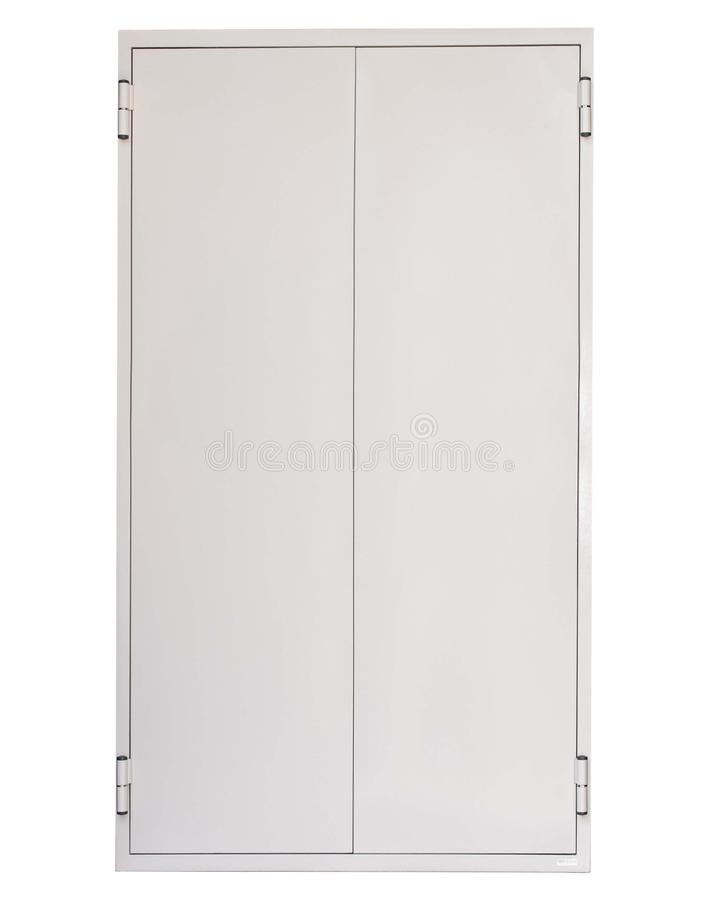 Metali drzwi odizolowywający na bielu obraz stock