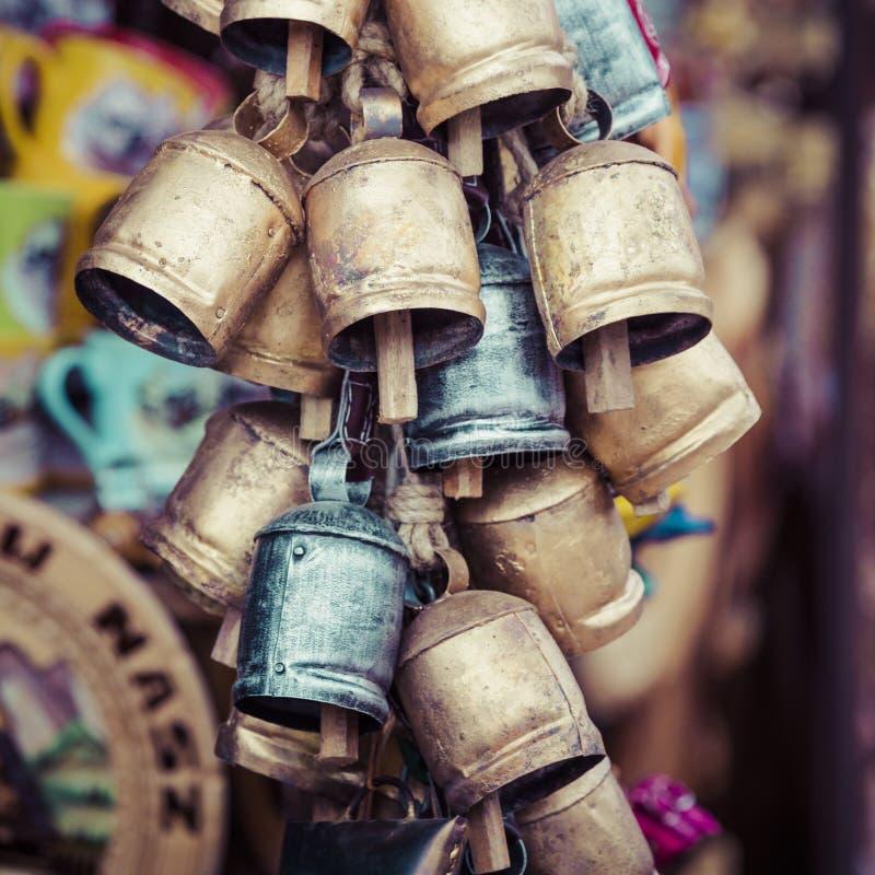 Metali dzwony od Zakopane zdjęcie stock