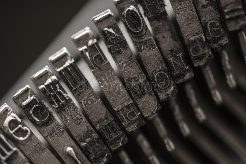 Metali listy na maszyna do pisania zdjęcia royalty free