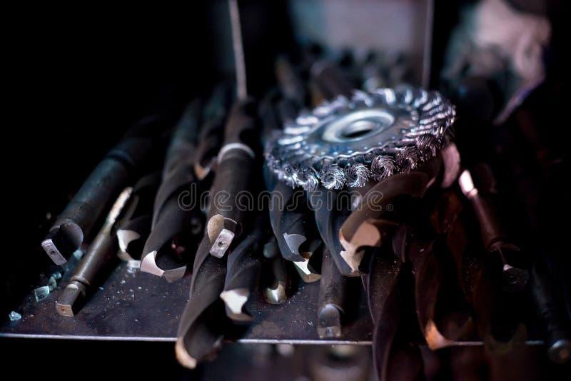 Metali narzędzia w produkci fotografia royalty free