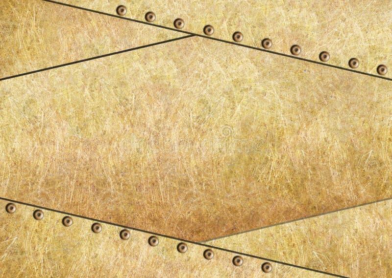 Metali prześcieradła tło dla projekta, brąz lub mosiądz, royalty ilustracja