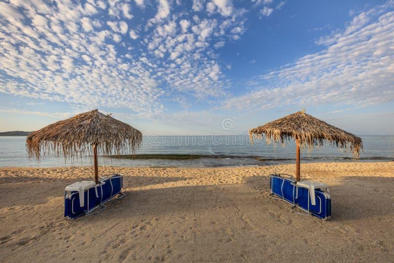Metalia Beach Ilha de Thassos, Grécia fotografia de stock