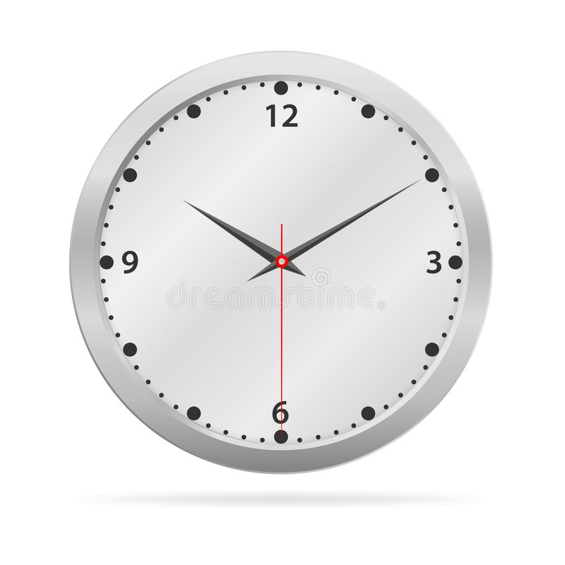 Metalic face watch isolated. On the white background, Vector illustration vector illustration